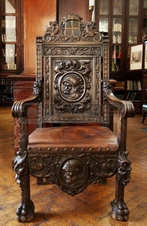 This Antique Wooden Chair Sits In The Grand Garrison Library Antique Wooden Chairs Wooden Chair Antique Chairs