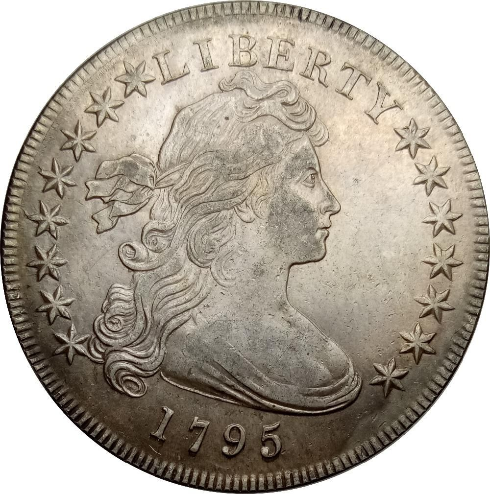 United States Of America 1 Dollar Draped Bust Dollar Small Eagle 90 Silver 1795 High Quality Only One With Images Dollar United States Of America Eagle