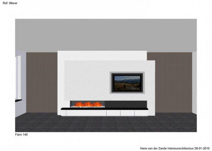 Open haard gecombineerd met tv wandmeubel pinterest haard tv en openhaard - Open haard moderne ...