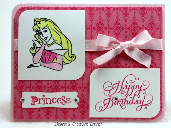 disney sleeping beauty princess aurora handmade card