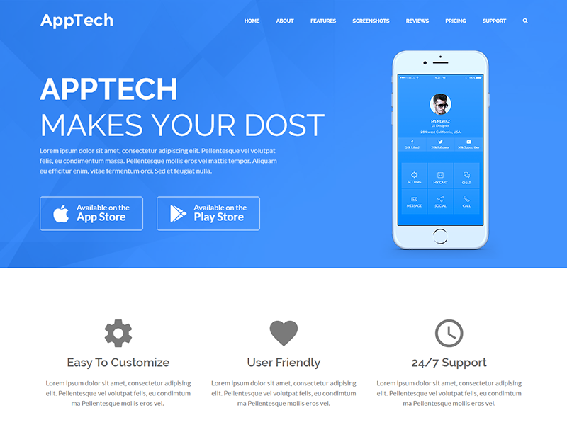 AppTech - WordPress Landing Page Theme by DevItems