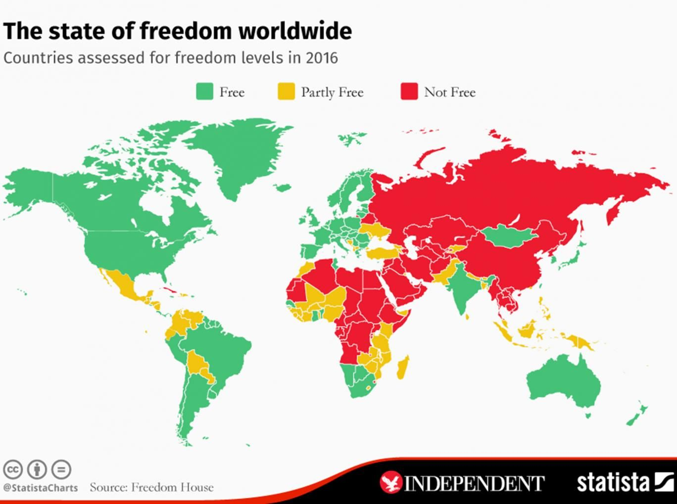 The Least Free Countries In The World World Map Countries Of