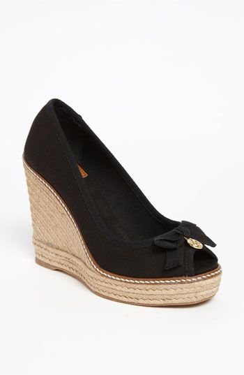 60416b2a03737 Tory Burch  Jackie  Wedge available at  Nordstrom gonna have to get these  for spring summer in GOLD.