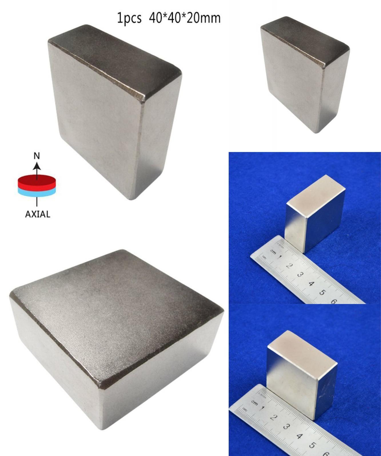 NdFeB 40X40X20mm N52 Large Super Strong Square Block Rare Earth Neodymium Magnet