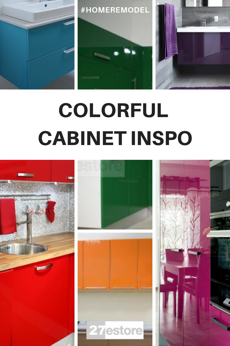 Colorful Home Inspiration High Gloss Kitchen Cabinets Gloss Kitchen Cabinets Kitchen Cabinet Colors