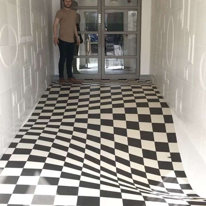 An optical illusion tile system designed by casa ceramica colossal an optical illusion tile system designed by casa ceramica colossal optical illusion art pinterest illusions op art and illusion art ppazfo