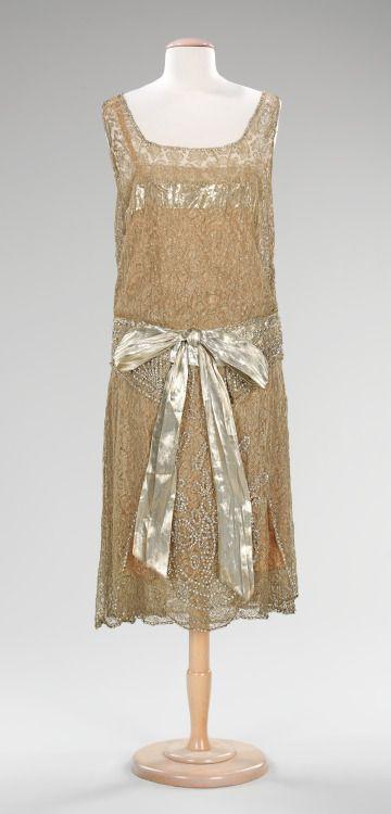 Ephemeral Elegance   Lace Deco Evening Dress, ca. 1925  Martha...