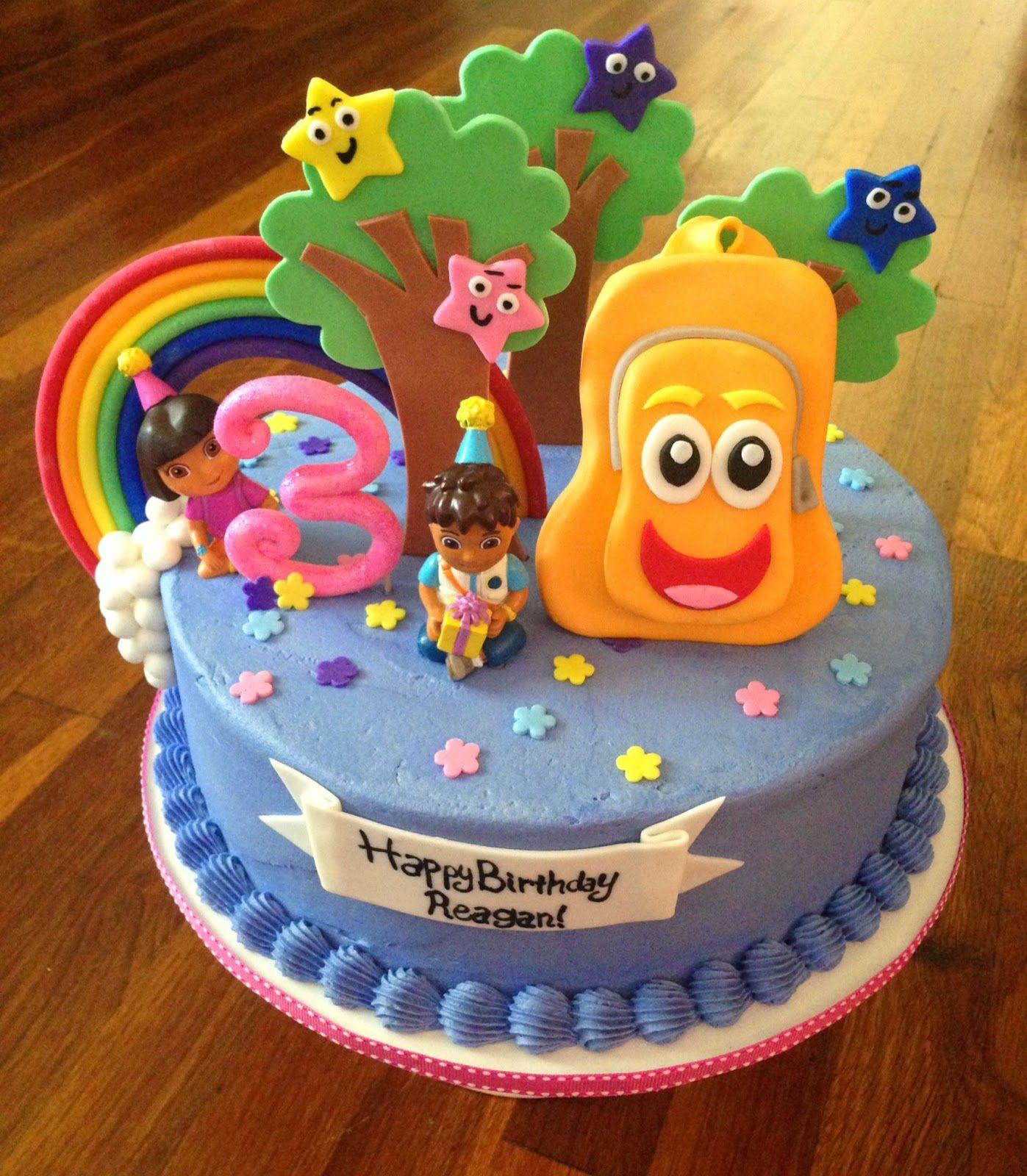 Brilliant Dora Diego Birthday Cake With Images Dora Birthday Cake Personalised Birthday Cards Epsylily Jamesorg