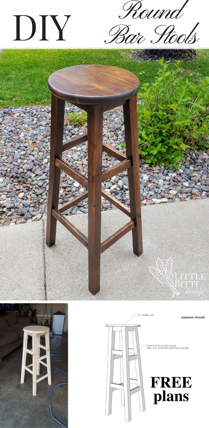Diy Basic Bar Stools Bar Chairs Diy Kitchen Stools Diy Diy Bar