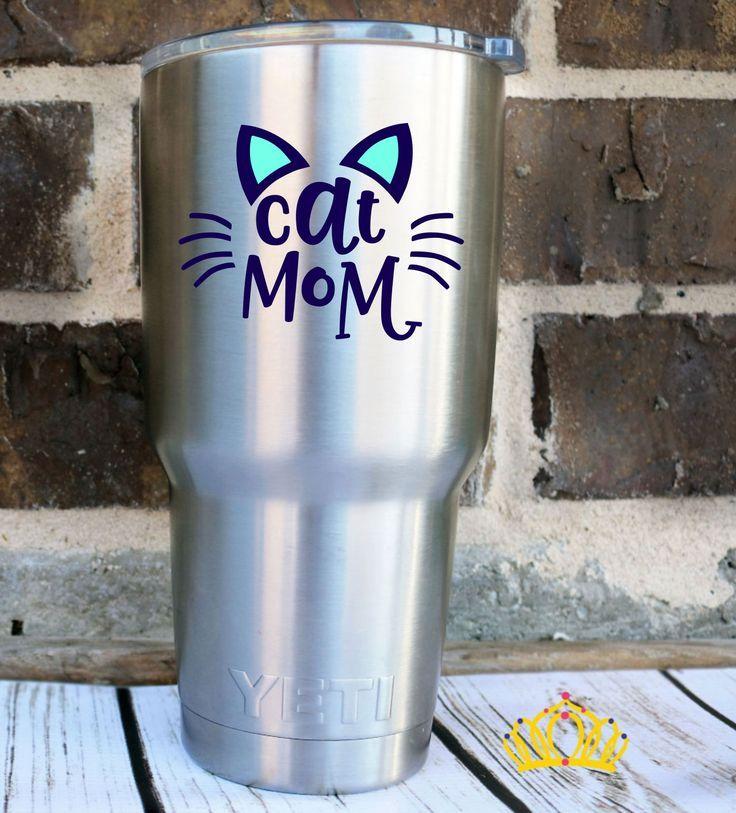 Cat mom gifts cat mom decal cat yeti decal cat