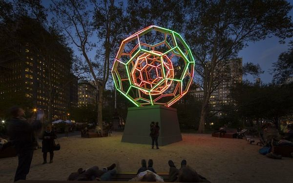 Leo Villareal's Buckminster Fuller Tribute Will Light Up Madison Square Park for 2 Extra Weeks