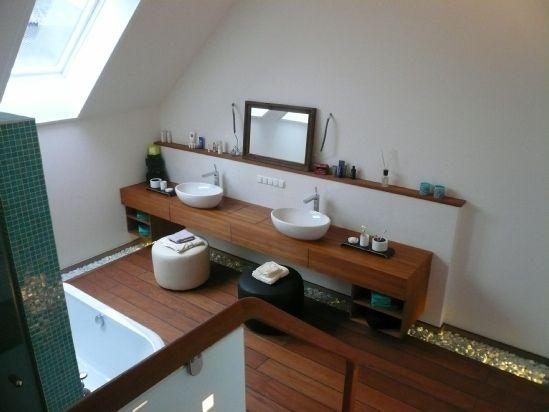 Holz im Bad waschtische Pinterest - parkett für badezimmer