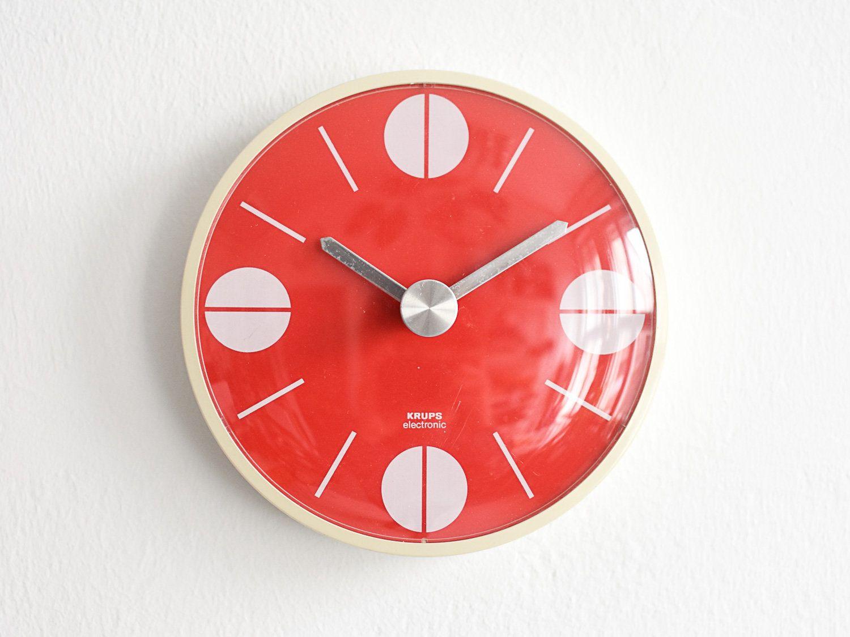 Rote Küchenuhr ~ Diehl uhr diehl wanduhr vintage wanduhr 60er wanduhr 60er
