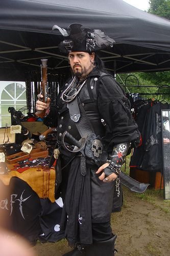 Commodore WeirdBeard in his leather gear