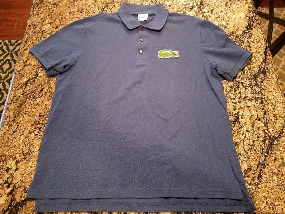 Lacoste mens royal blue big gator logo polo shirt size 7 l large lacoste mens royal blue big gator logo polo shirt size 7 l large golf lacoste sciox Images