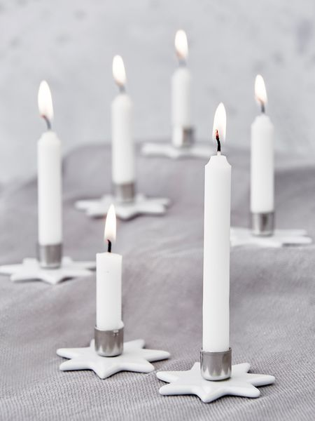 Mini Star Candle Holders - Set 6
