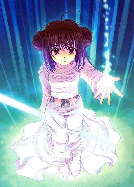 Princess Leia in Anime form ;)  Star Wars