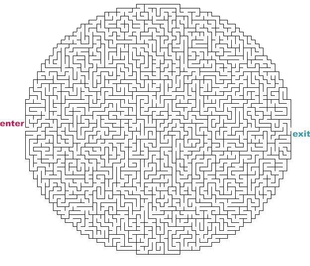photo relating to Printable Mazes Hard identify Tough Maze Video games towards Print Mazes toward Print - Tough Oval