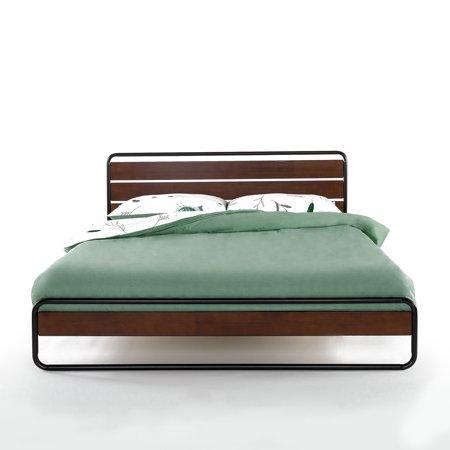 Zinus Horizon Metal Amp Wood Platform Bed With Wood Slat