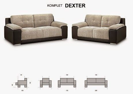 Komplet Wypoczynkowy 3 2 Dexter Kanapa Sofa 4718025174 Oficjalne Archiwum Allegro Sofa Couch Sectional Couch