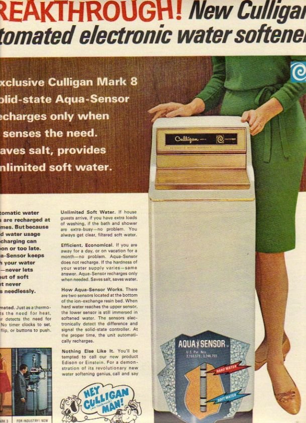 Vintage Ad 1967 Hey Culligan Man Hard Water Softener Culligan Vintage Ads Water Softener