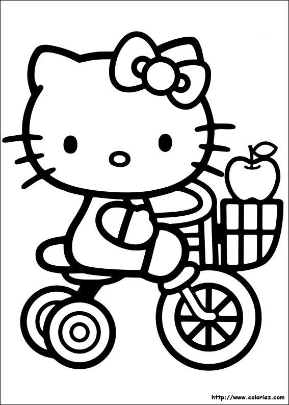 Hello Kitty is a twinkling-eyed cartoonish character which is - new coloring pages with hello kitty
