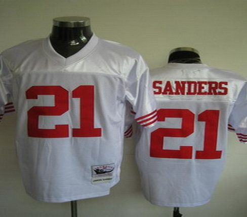 San Francisco 49ers 21 Deion sanders white Jerseys throwback 76ff5dfd1