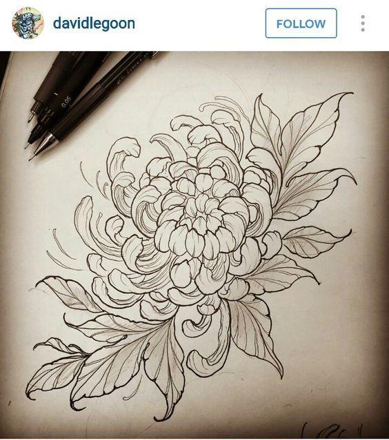 Pin By Bliharzh Elizabeth On E Cvety Rasteniya Chrysanthemum Tattoo Japanese Flower Tattoo Japanese Tattoo