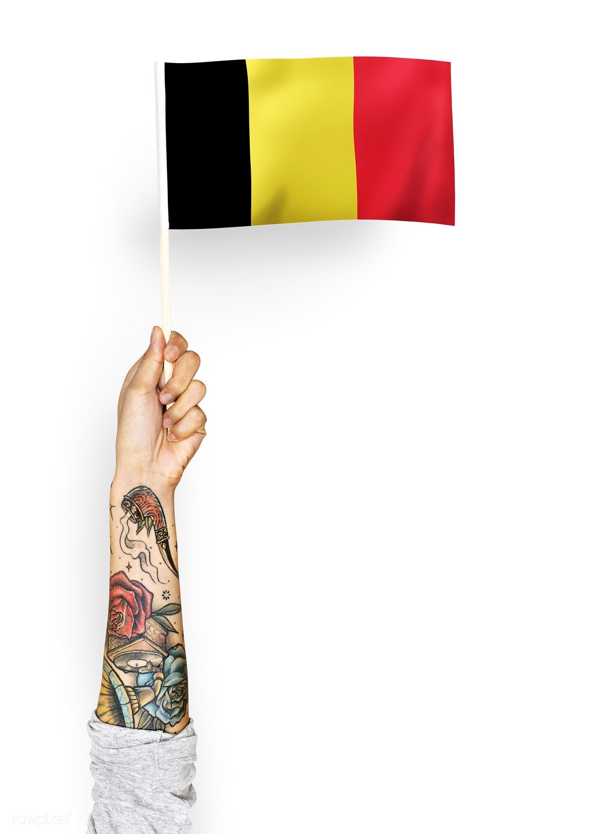 Person Waving The Flag Of Kingdom Of Belgium Free Image By Rawpixel Com Flag Flags Of The World Free Images