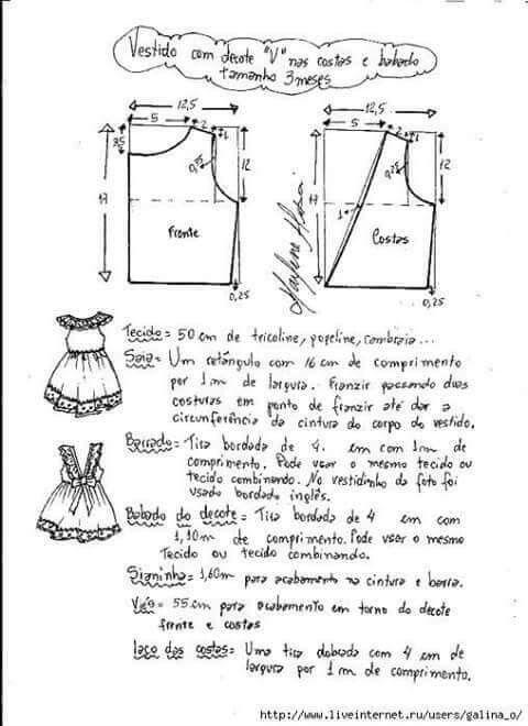 Pin de Madeleine Escalante en ropa molde | Pinterest | Patrones ...