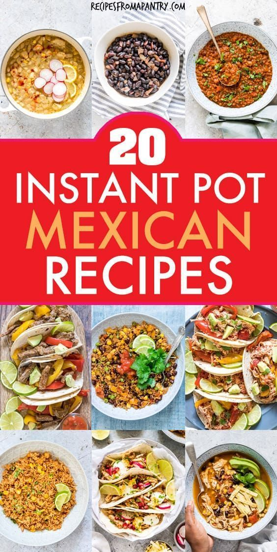 Photo of 20 Instant Pot Mexican Recipes | Recipes From A Pantry