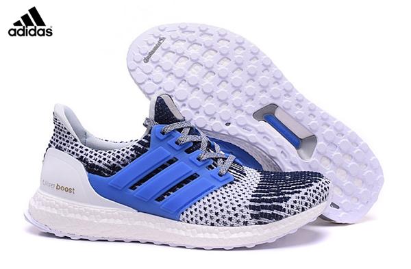 2017 Men's Adidas Ultra Boost Running Shoes WhiteNavyLight
