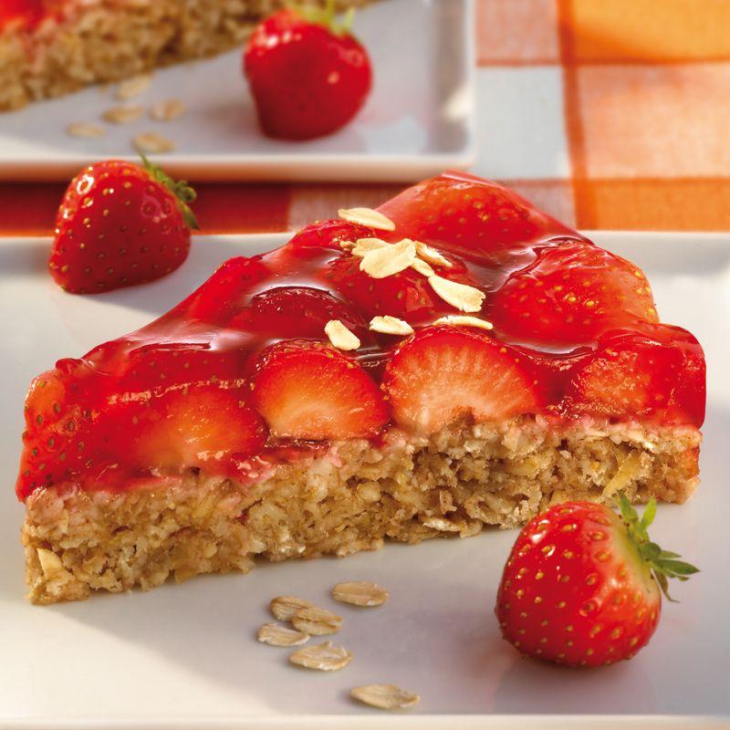 Haferflocken-Erdbeer-Kuchen #grilleddesserts