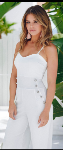 81da27cc83a TOWIE Cream Button  Culotte  Jumpsuit SHOP QUIZ