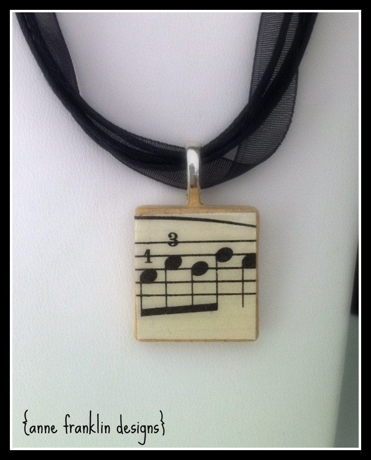 Items similar to la la la repurposed scrabble tile pendant necklace i have everything to make this and several people who would enjoy wearing one la la la repurposed scrabble tile pendant necklace made with vintage sheet aloadofball Choice Image