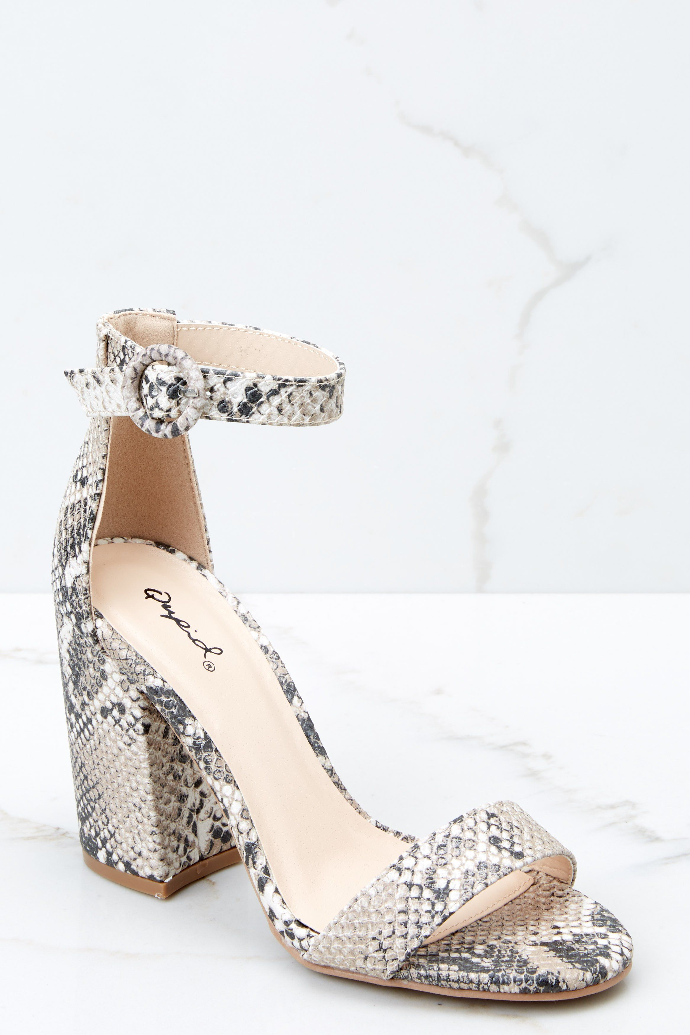 2b3c4204b1 Can't Stop Won't Stop Snake Print Ankle Strap Heels in 2019 | She ...