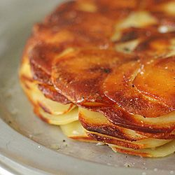 Pommes Anna- a classic and simple potato dish with wonderful taste and texture.