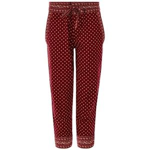 Isabel Marant Étoile Burgundy Cotton Loli Boho Trousers