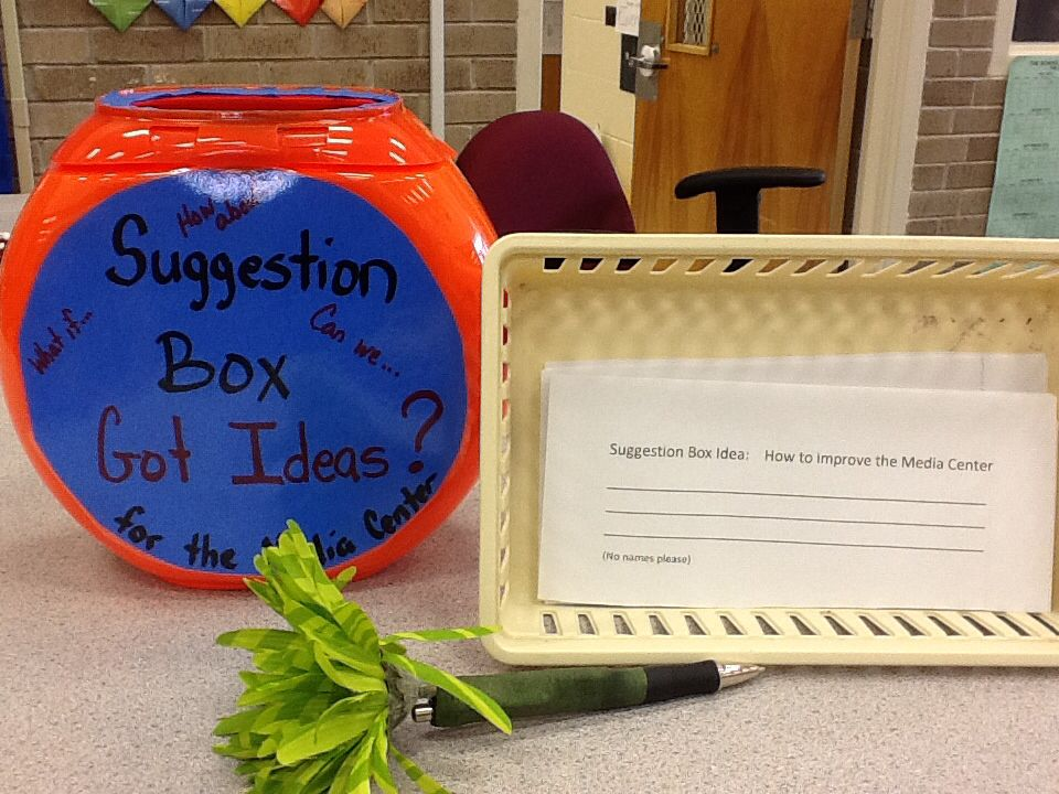 Suggestion Box For The Classroom A Place For Students To Offer Thoughts Library Activities High School Library Suggestion Box