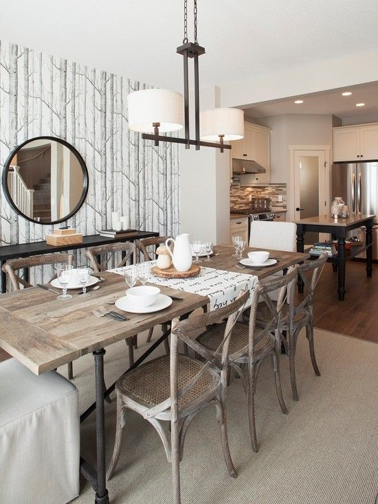 The Dining Area Features A Dining Table From Restoration Hardware Classy Restoration Hardware Dining Room Sets Inspiration Design