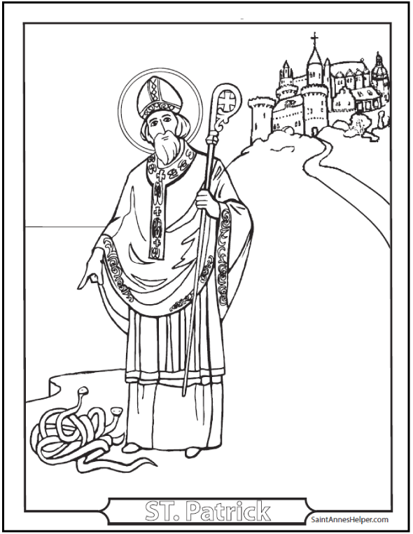 Saint Patrick's Day Coloring Pages + + Catholic Coloring