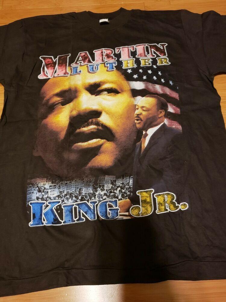 bdfb60a0 vintage New Martin Luther King double sided rap tee t shirt bootleg sz Xl -  Rap
