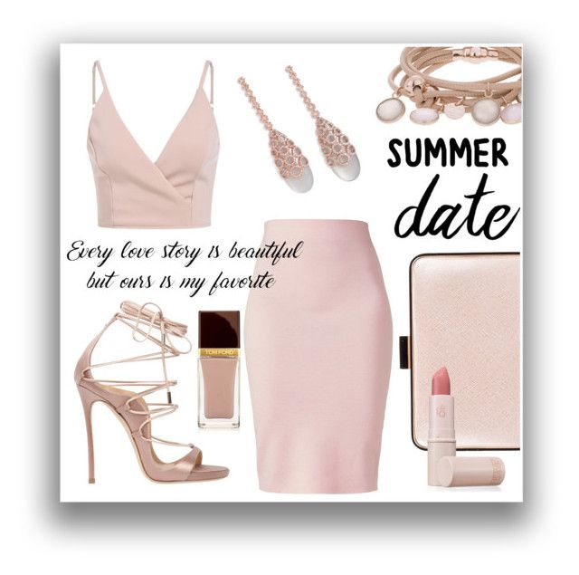 """Summer Date"" by lullulu on Polyvore featuring Dsquared2, Marjana von Berlepsch, Coccinelle, Winser London, Carla Amorim, Lipstick Queen and Tom Ford"