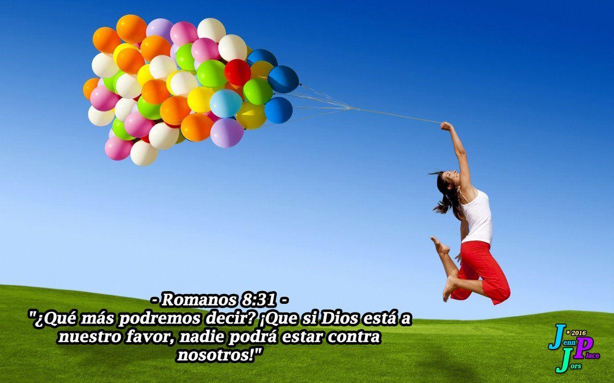 """✞ – Romanos 8:31 – """"¿Qué más podremos decir? ¡Que si Dios está a nuestro favor, nadie podrá estar contra nosotros!"""""""