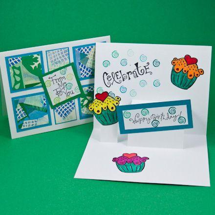 Card Making Idea Step Pop-Up Card Tutorial Kortit - birthday card sample