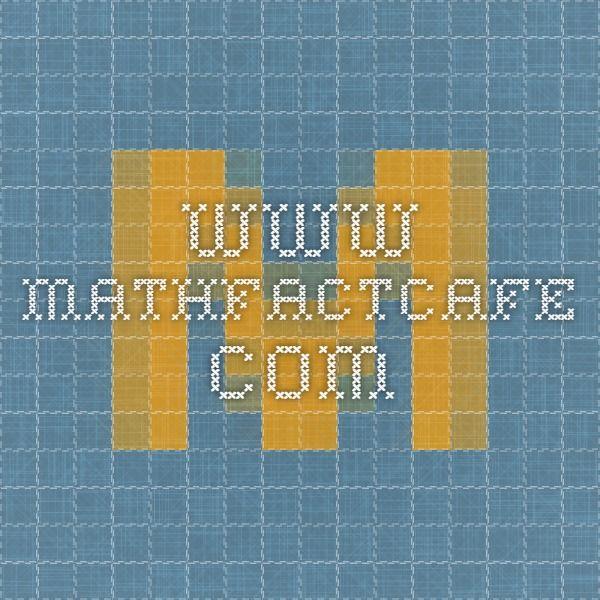 www.mathfactcafe.com   homeschool en espanol   Pinterest ...