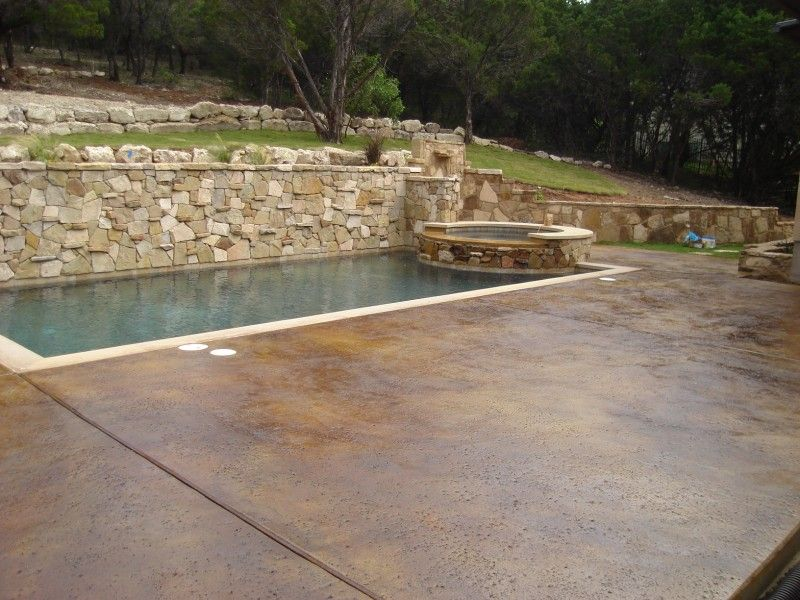 22 best Staining around Pools images on Pinterest | Concrete pool ...