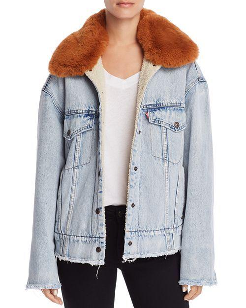 Levi s - Fur-Trimmed Oversize Trucker Jacket Bordure En Fourrure, Levis,  Vestes Pour 8eecb1a5a0e0