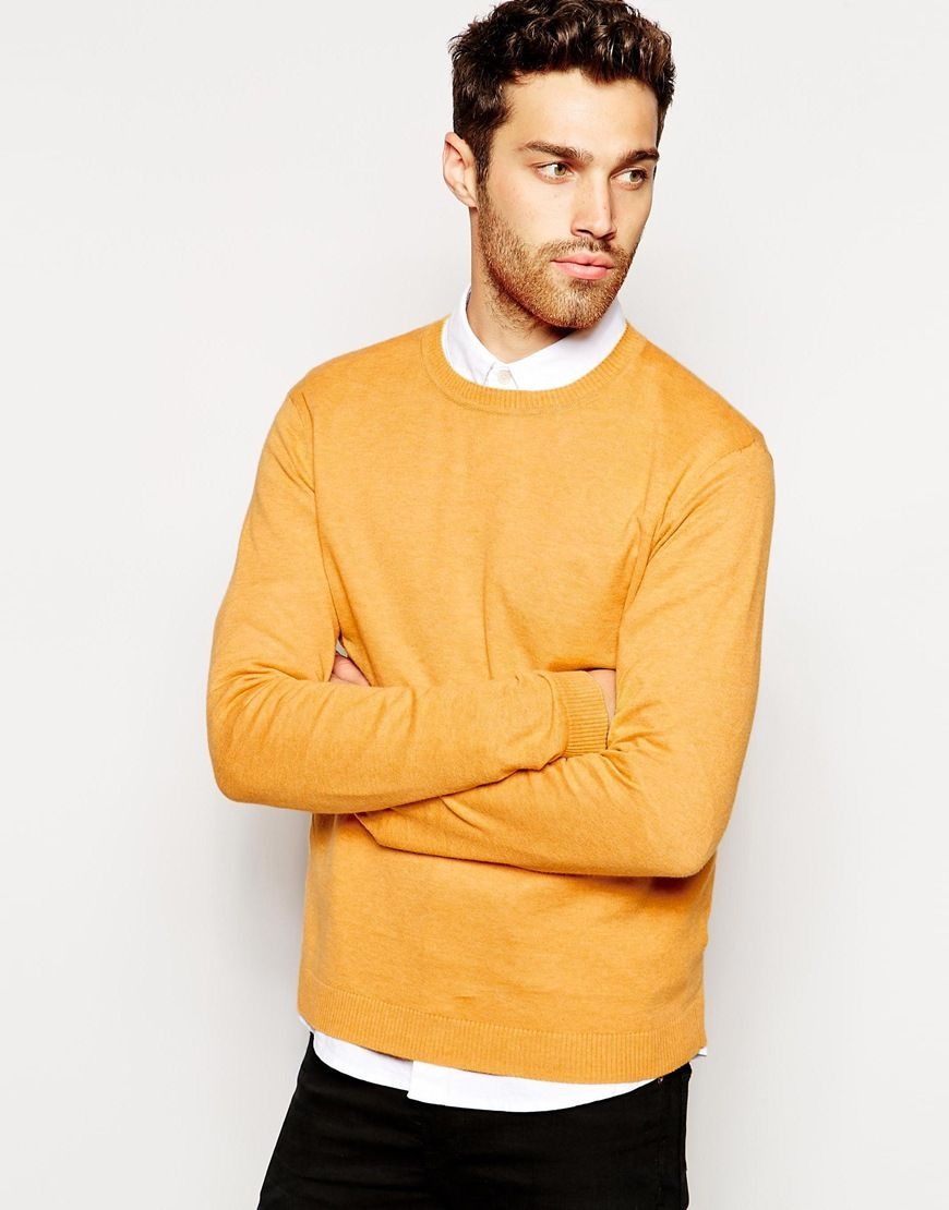 asos-yellow-crew-neck-sweater-in-cotton-product-1-25128346-1 ...