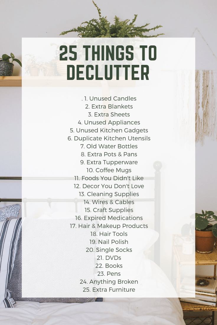 25 THINGS TO DECLUTTER TODAY - Tory Stender